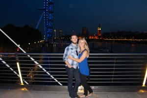 Me and my sweets in front of the London Eye